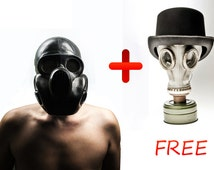 Black Gas mask PBF-EO19 Scary mask called Gorilla mask. Steampunk. Gifts 1 Original bag for free 2 Gas mask White GP 5 for FREE