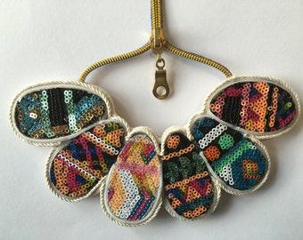 Original necklace multicolor sequin