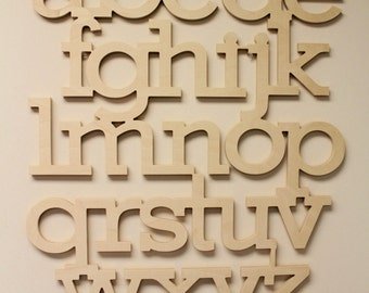 wooden alphabet letters unfinished wall hanging letters complete full set nursery decor wooden letters connected