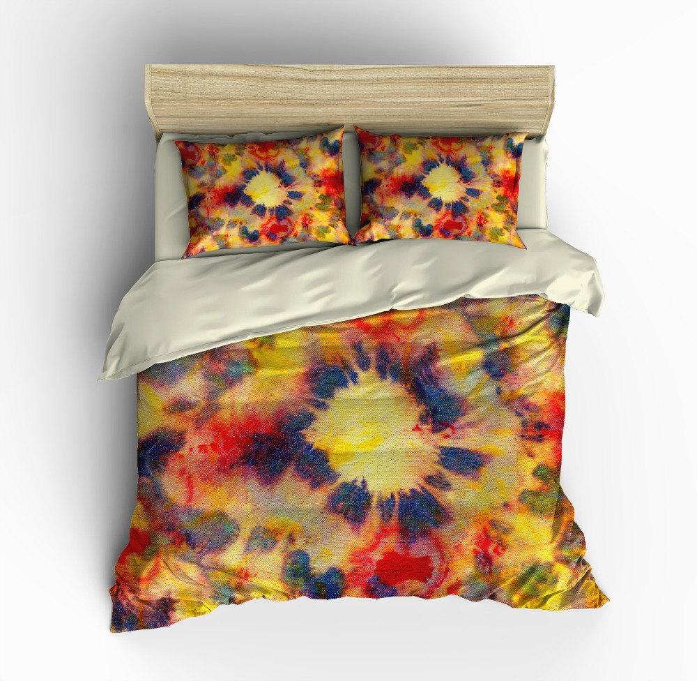 Bohemian Boho Bedding Duvet Cover Set Pillow by FolkandFunky