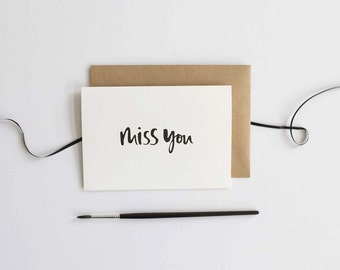 Miss You Card - Card for Friend - Thinking of You Card