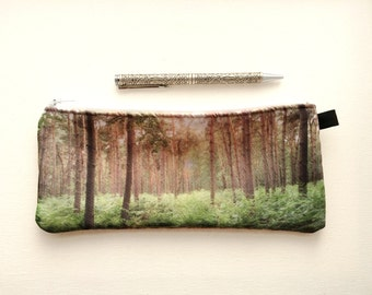 Pencil case, back to school Pencil pouch, purse organizer, Nature Boho zipper bag, eco-friendly travel pouch, gadget makeup bag cosmetic bag