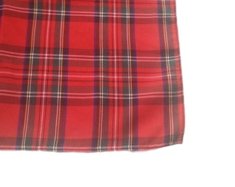"Vintage 1960s Red Plaid Cotton Scarf - 20.5"""