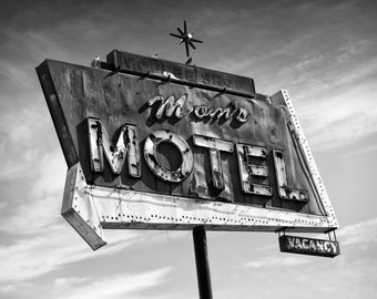 Neon Sign Moms Motel
