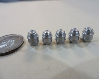 HO Scale Machined Aluminum Beer Kegs 5-Pack