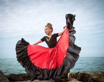 """Gypsy dance skirt """"Little Gypsy"""". Flamenco skirt. Girl's skirt. Dance skirt."""