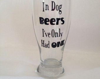 Beer Glass - Dad Beer Glass - Guy Beer Glass - Personalized Custom Beer Glass - Man Cave Gift