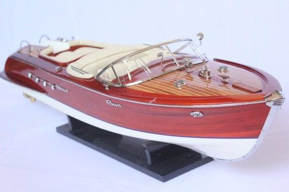 Riva aquarama barca l21 legno di alta qualit 53 cm di for Motoscafo riva aquarama