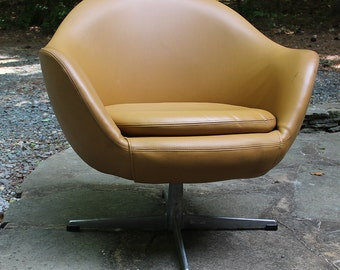 Mid-century modern vintage Overman chair from Sweden