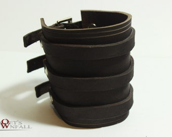 Rugged Leather Strap Wristband