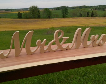 DIY Mr and Mrs Sign, Mr & Mrs,  Wedding Sign, Thank You Sign, DIY Wedding Numbers, Absolute Best Prices