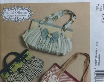 McCall's 6090 Fashion Accessories Artful Offerings Designer Karina Hittle Purse Sewing Pattern