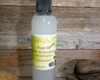 Leave in Hair Conditioner Spray w/Argan Oil Adds Shine/Tames Fly Aways