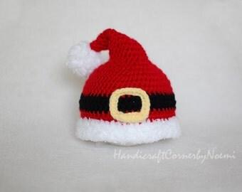 Santa Crochet hat, newborn to adult sizes