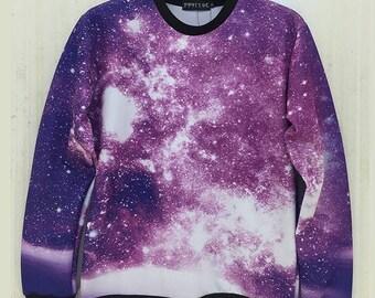 Purple Space Galaxy pullover