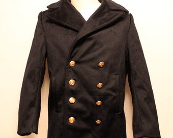60's Deadstock vintage Italy Marine pea coat made in Italy