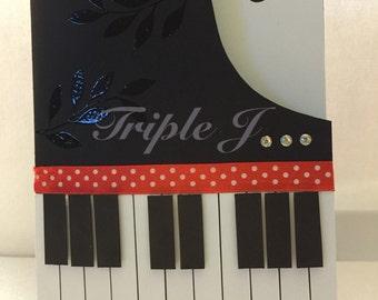 Handmade Card, Piano