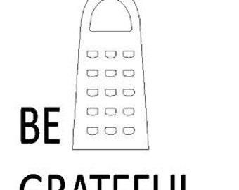 Be Grateful Decal