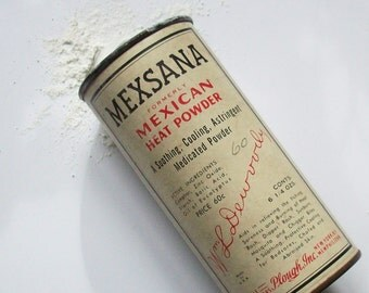 Vintage Mexana / Mexican Foot Powder / Camphor and Eucalyptus