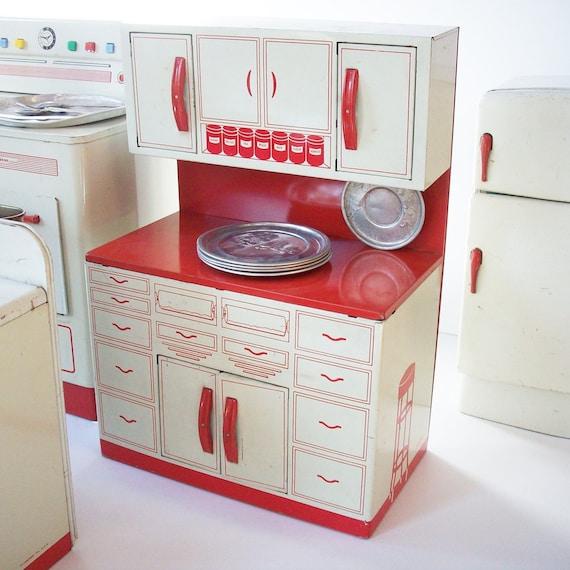 Vintage Toy Kitchen From Wolverine / 4 Pieces / Refridgerator