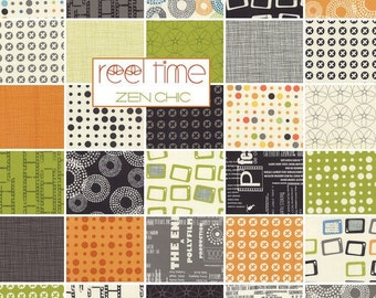 """REEL TIME Layer Cake - Zen Chic for Moda - 10-Inch Squares - Fabric Squares - 10"""" Fabric Squares - Modern Contemporary-SALE"""