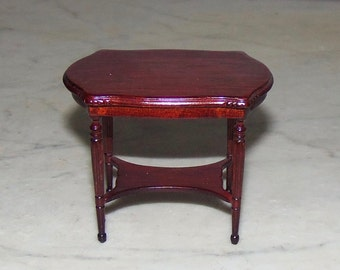 Vintage Bespaq Dollhouse Table for 1:12th Scale.  Side Table. Carved.