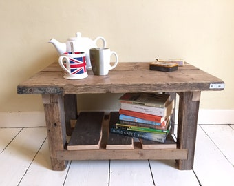 Handmade coffee table , one off piece