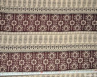 OOAK printed Rayon Crepe fabric Crinkle fabric by the yard