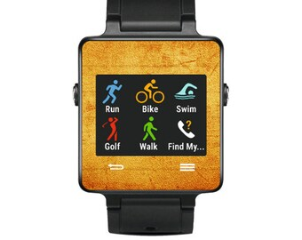 Skin Decal Wrap for Garmin Vivoactive Forerunner Watch cover sticker Vintage Fabric