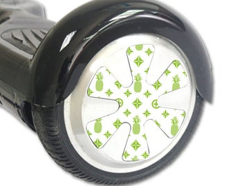 Skin Decal Wrap for Hoverboard Balance Board Scooter Wheels Lime Designer