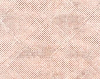Linen fabric by the yard - Euclid by Carolyn Friedlander - Tangerine Diamond Grid - Quilt Fabric - Sewing Fabric - Linen
