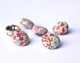 Liberty of London sewing buttons Fabric covered buttons 12mm size
