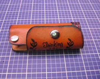 Elegant Keys Holder with double Key posts. handcraft Veg-tanned leather Key case