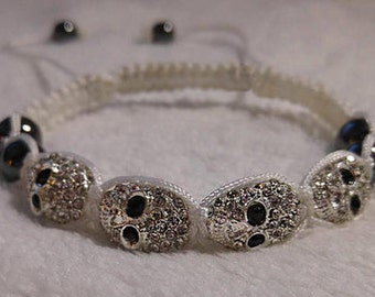 Skull Shamballa Bracelet