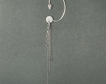 Ear jewelry chain silver