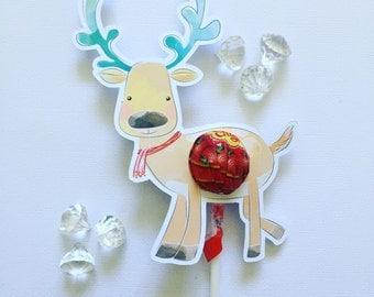 Reindeer lollipop holders