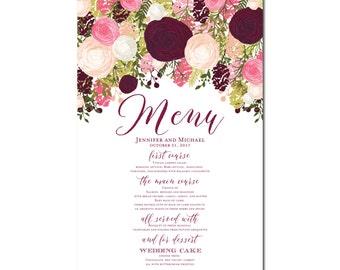 Printable Wedding Menu Sign - Wedding Printable Menu Sign - Wedding Menu Poster - Wedding Sign - Wedding Menu Board - Menu Poster #CL113