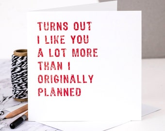 Funny Engagement Card; Personalised Engagement Card; Engaged Card; Funny Love Card; Love Card; Funny Anniversary Card; GC154