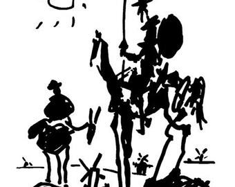 Pablo Picasso Don Quixote  print poster wall art 11 x 14