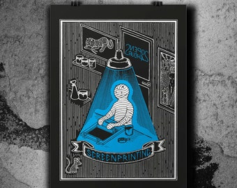 All Night Long - Silkscreen poster