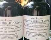 "Organic "" Silk Lift "" Hydrolyzed Silk & Rosewater Serum - Improves Elasticity and Resilience."