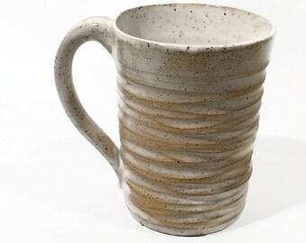 Pottery Mug- coffee mug- tea cup-favorite mug-handcarved mug-for her-for him