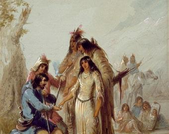 Alfred Jacob Miller: The Trapper's Bride. Fine Art Print/Poster. (003861)