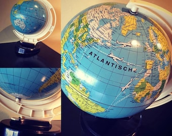 Very cool vintage globe - Tin globe - Fifties globe