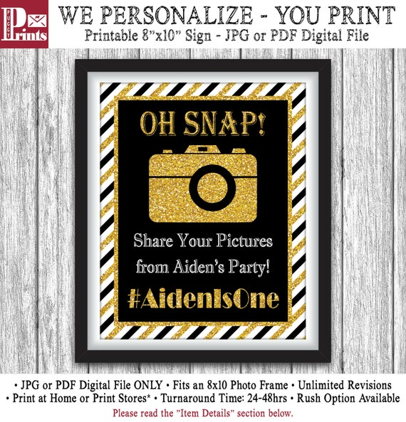 Mr. ONEderful Hashtag Sign Printable Mr One-derful By