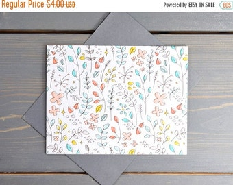 ON SALE Floral Greeting Card