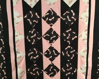 Pink Heels Custom Quilt
