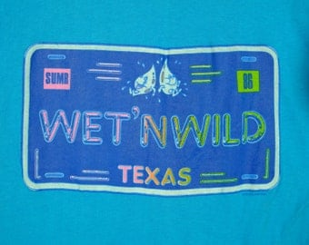 Wet N Wild Texas Tshirt Summer 1985