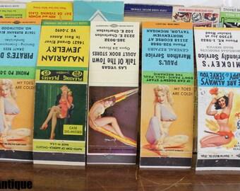 Lot of Five Vintage Pin-Up Girl Matchbooks!