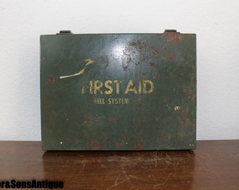 1950's Bell System First Aid Kit, Full!